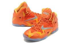 100% authentic ed8fb 7b36f Lebron 11 Forging Iron Urban Orange Light Armory Blue Laser Orange 616175  800 Lebron 11,