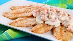Filé de peixe ao molho de camarão cremoso - Bolsa de Mulher