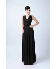 Long Infinity Bridesmaid dress in Black