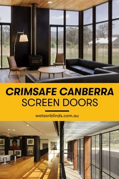 Crimsafe screen doors & screen windows are rigorously tested & withstand a force of up to kg. We are exclusive suppliers of Crimsafe Security Products. Modern Window Treatments, Sliding Door Window Treatments, Sliding Door Blinds, Bathroom Window Treatments, Blinds For French Doors, Windows And Doors, Custom Blinds, Custom Curtains, Curtain Alternatives