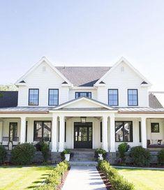 90 incredible modern farmhouse exterior design ideas (54)