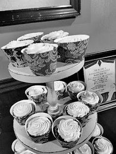 Roaring Twenties Party. Cupcake wrappers.