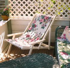 Beau Floral Deck Chair Its A Must Have! Vintagelifestyle.co.uk