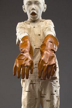 ༻⚜༺ ❤️ ༻⚜༺ Wood Carved Sculptures // By German Artist Gehard Demetz ༻⚜༺ ❤️ ༻⚜༺