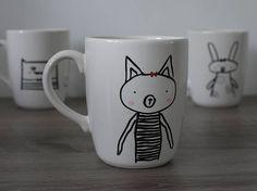Cat mug tea / coffee mug.