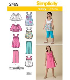 Simplicity Pattern 2469K5 7-8-10-12--Simplicity Child Gir
