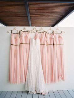 Blush bridesmaids dresses: Photography: Stephanie Brazzle - http://stephaniebrazzle.com/