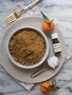 tangerine brown sugar lip scrub / a cozy kitchen