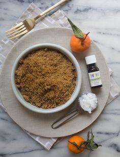 tangerine brown sugar lip scrub / a cozy kitchen