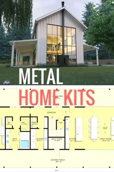 Steel Building Ideas - CLICK THE IMAGE for Lots of Metal Building Ideas. 26859764 Metal Barn Homes, Pole Barn Homes, Pole Barns, Metal Homes Plans, Steel Building Homes, Building A House, Building Ideas, Steel Homes, Building Materials