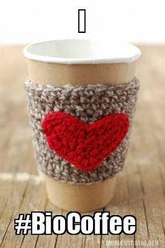 Adorable cup warmer for your #BioCoffee12day.  www.biocoffee.com