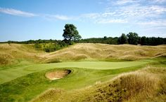 Crystal Downs Country Club Frankfort Michigan ~ I remember being in this bunker, I threw it out!