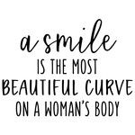 a smile is the most beautiful curve phrase