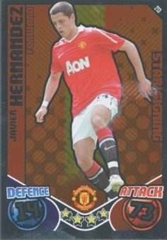 """Javier Hernandez CHICHARITO Manchester United """"Metallic"""" Rookie Trading Card by Topps. $10.00. Here is a genuine fully licensed trading card of the Mexican and Manchester United soccer sensation that everyone's talking about - Javier Hernandez, better known as """"Chicharito"""" (""""little pea""""). This is Chicharito's metallic silver """"Star Signing"""" insert card from the Topps 2010-11 Match Attax English Premier League series and is a Chicharito Manchester United rookie card. Grab thi... Soccer Cards, Baseball Cards, Manchester United Soccer, Premier League Matches, English Premier League, Trading Card Database, Silver Stars, The Unit, Football"""