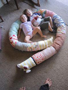 DIY snake pillow