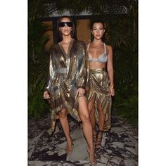 ABOUT LAST NIGHT  #KimKardashian and #KourtneyKardashian dressed in #BALMAINSS17 at yesterday's after-show party