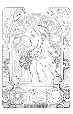 My Art Nouveau Game Of Thrones Inspired Image Danaerys Targaryen