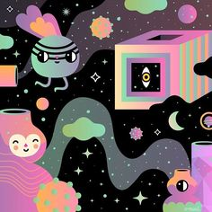 Follow me to the stars!  #illustration #magicalportals