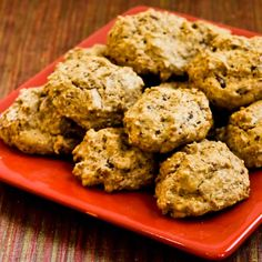 Recipe for Low-Sugar and Whole Wheat Ranger Cookies with Pecans, Coconut, and Chocolate from Kalyn's Kitchen   #SouthBeachDietRecipes #LowGlycemicRecipes