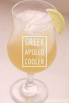 This delicious Greek inspired drink, Apollo Cooler, is made using Greek Metaxa, ouzo, and ginger ale. It's the taste of Greece in a glass! Ouzo Drinks, Bar Drinks, Beverages, Detox Drinks, Body Cleanse Drink, Greek Dinners, Dinner Club, Vegetable Drinks, Healthy Eating Tips