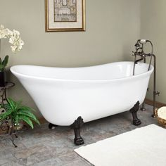 Slipper Clawfoot Tub to Offer a Pleasure of Relaxing Bath   The Renovator's Supply, Inc. Blog