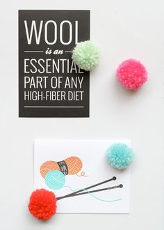 Pom-Pom Magnets and Pushpins –  32 Brilliant DIY Anthropologie Knockoffs