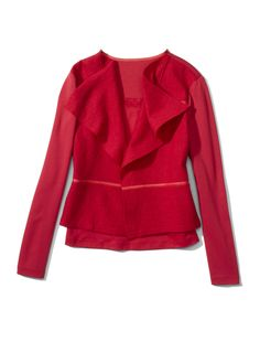 Chico's Boiled Wool Mix Jacket in Renaissance Red. #chicossweeps