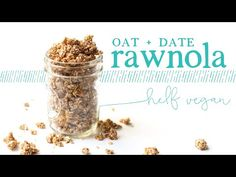 The ultimate easy healthy 2-ingredient topping or snack. Chewy and sweet, this no-bake rawnola tastes just like cookie dough--it's addictive!