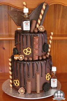 Jim Beam theme cake