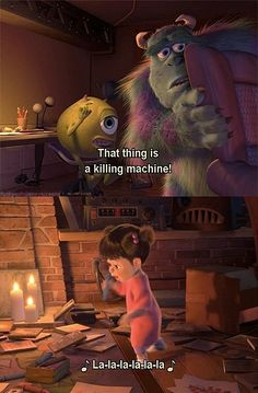 Boo has to be the cutest kid character I have ever seen, besides the fact I looked just like her when I was a baby!