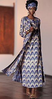 Loving the print African Inspired Clothing, African Print Fashion, Fashion Prints, African Design, African Style, Just Style, Long Skirts, African Women, Woman Fashion