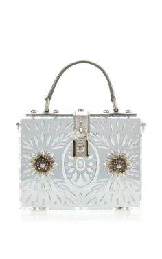 Embellished Plexi Mirror Dolce Bag by Dolce & Gabbana for Preorder on Moda Operandi