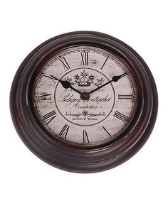 Love this Chateau Vendange Iron Wall Clock on #zulily! #zulilyfinds