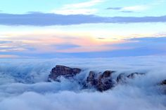 grand canyon, flooded with clouds
