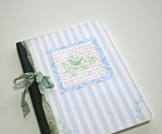 Composition Notebook writing journal blue. by Tesorobella on Etsy