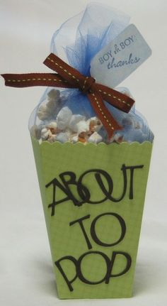 maybe with unpopped popcorn bags...  ring pops for kids, pop rocks...  i could go on and on...