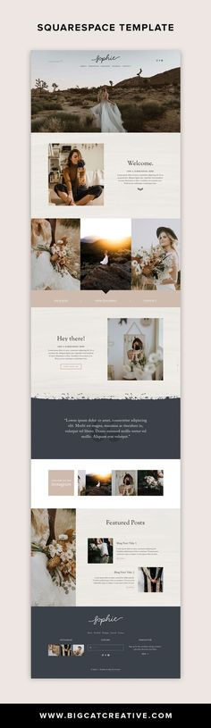 The Sophie Squarespace Template Kit is a rustic and romantic website kit with a classic layout. It has been designed with photographers, designers, or other creative business types in mind. Creative Web Design, Web Design Tips, Blog Design, Brand Design, Ux Design, Website Design Inspiration, Website Design Layout, Web Layout, T-shirt Refashion