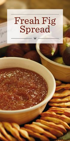 Looking for a fresh fig recipe? This simple fig spread has only 3 ingredients—figs, honey or brown sugar and cornstarch—but it's big on fresh flavor. Fig Recipes, Honey Recipes, Canning Recipes, Fresh Figs, Fresh Fruit, Fig Preserves Recipe, Fig Spread, Appetizer Recipes, Appetizers