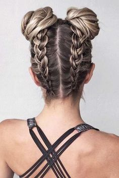 Ponytail Hairstyles two upside down braids two buns braid hairstyles with weave dark blonde hair with highlights.Ponytail Hairstyles two upside down braids two buns braid hairstyles with weave dark blonde hair with highlights Dance Hairstyles, Trendy Hairstyles, Braided Hairstyles, Party Hairstyles, Teenage Hairstyles, Beautiful Hairstyles, Hairstyle Hacks, Japanese Hairstyles, Cool Hairstyles For Girls
