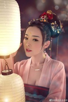 Lovely asian ladies, mostly in traditional costumes (also in movies) or ele Pretty Asian, Beautiful Asian Women, Oriental Fashion, Asian Fashion, China Girl, Beauty Hacks Video, Chinese Culture, Hair Ornaments, Hanfu