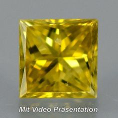 0.08 ct. Zauberhafter Goldgelber 2.5 mm Diamant mit Karree- Prinzess- Schliff Colored Diamonds, Natural Gemstones, Gold Rings, Jewelry, Minerals, Yellow, Jewlery, Jewerly, Schmuck