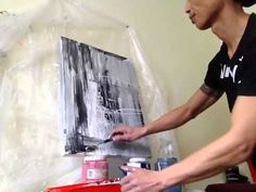 """Abstract Painting - """"Bleak and Whigs"""" Acrylic on Canvas - Artwork by Randy Alcasid (Part 1) - YouTube"""