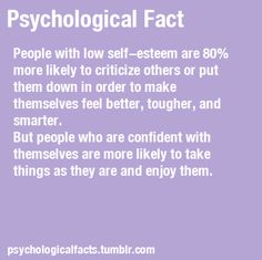 psychological fact on people who are critical....