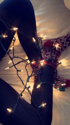 #luces #cama #navidad #calcetines