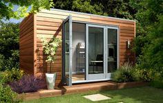 Garden , Multi-Function Modern Garden Shed : Contemporary Minimalist Modern Garden Shed