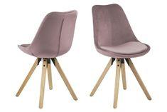 Kjøp - 889 NOK! Augusta spisestol - Rosa (Fløyel). Stilig spisestol fra vår Augusta serie med en rund moderne