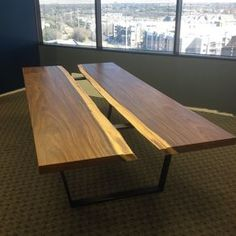Modern Contemporary Industrial Conference Table by Aaron Smith