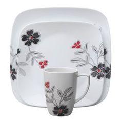 Square™ Mandarin Flower 16-Pc Dinnerware Set