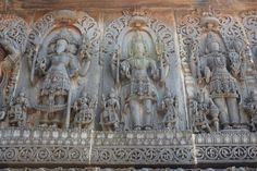 It has always been Brahma, Vishnu and Shiva. However, what we see in this brilliant, intricate stone carving defies this, and has done that close to a thousand years ago. This picture has Brahma, Shiva and only then, Vishnu. The legend has it that the Hoysalas, great Vaishnavites were so magnanimous and respectful of Shivites that they always put the Shivites ahead of themselves when it came to respect and hospitality. This golden art is in Belur, off Hassan in Karnataka.