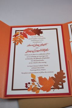 Fall Digital Invitation Suite by WeddingsNThingss on Etsy